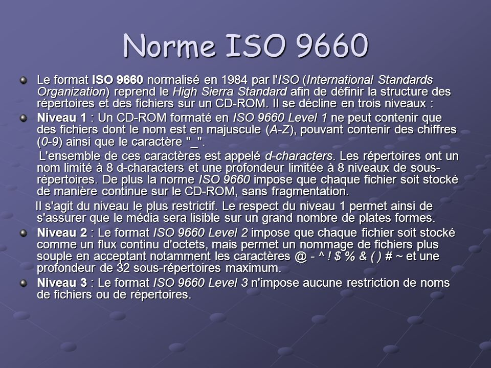 Norme ISO 9660