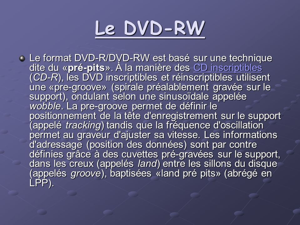 Le DVD-RW