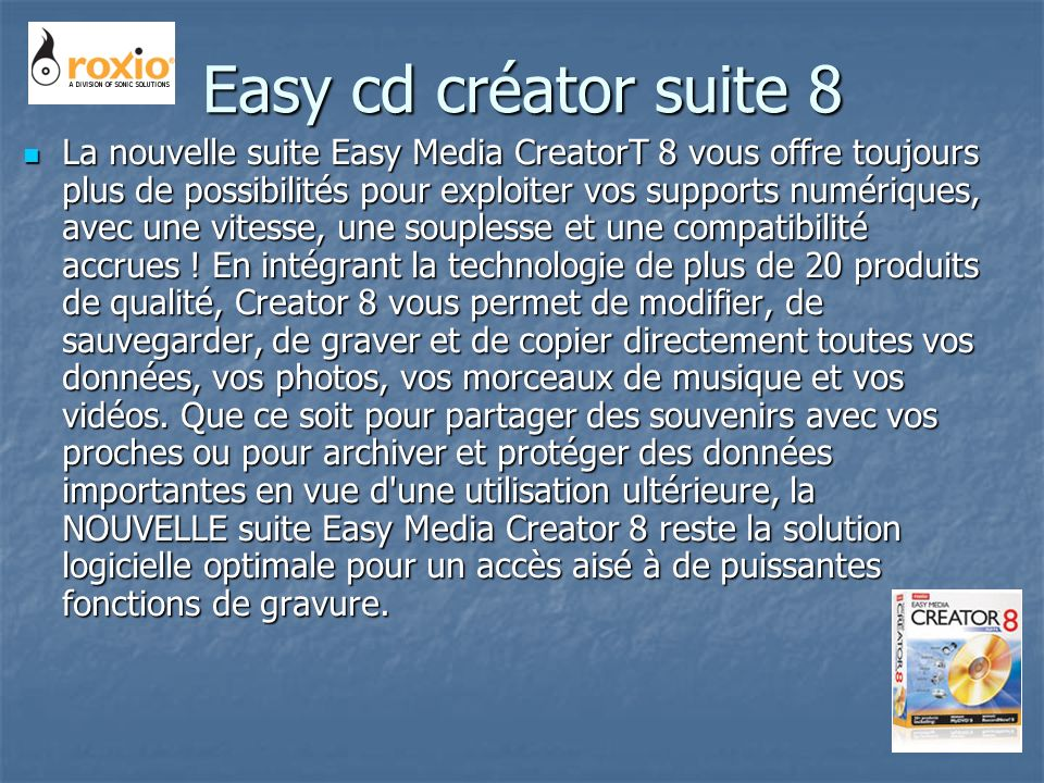 Easy cd créator suite 8