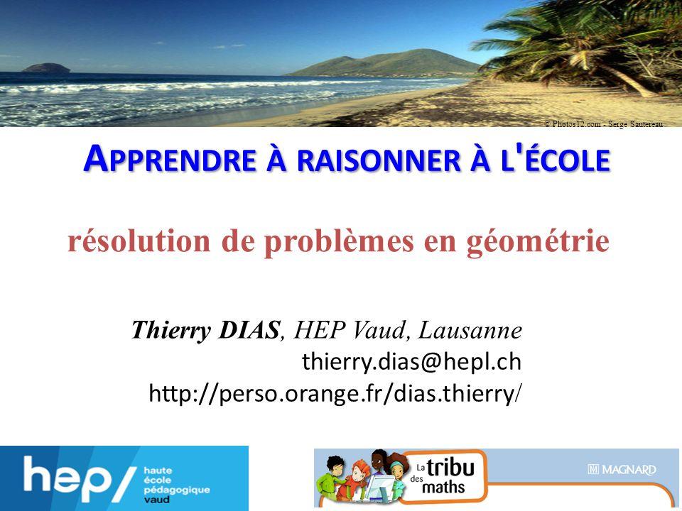 Apprendre à raisonner à l école résolution de problèmes en géométrie