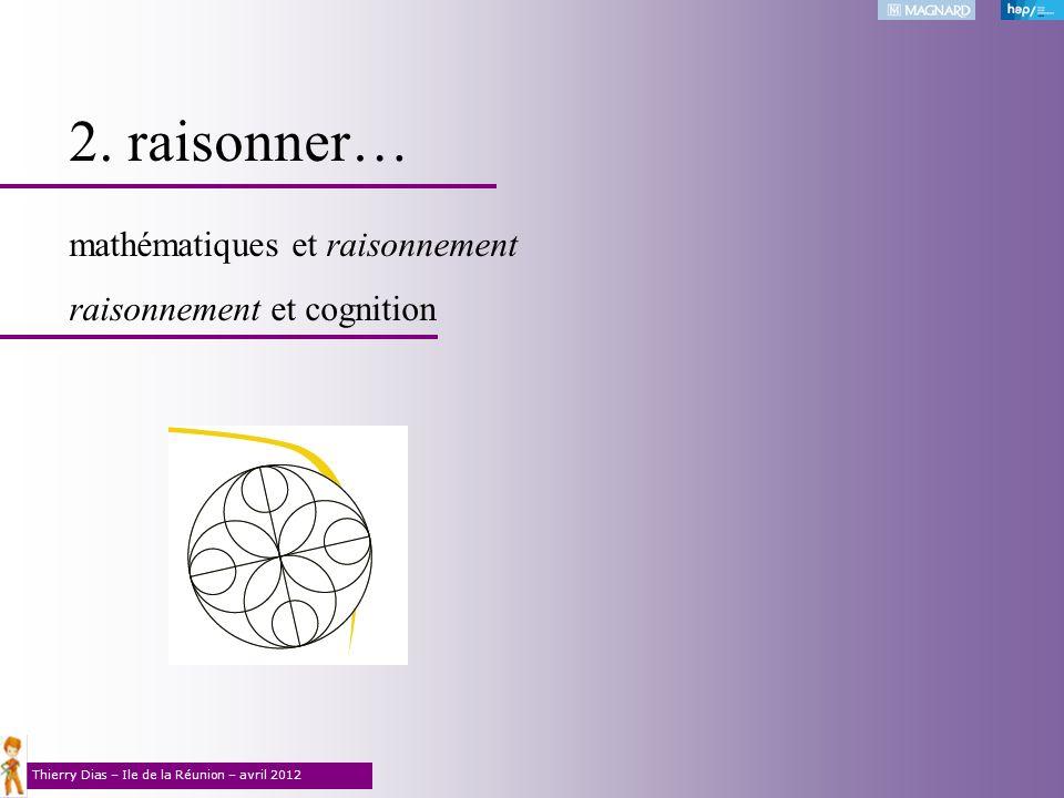 2. raisonner… mathématiques et raisonnement raisonnement et cognition