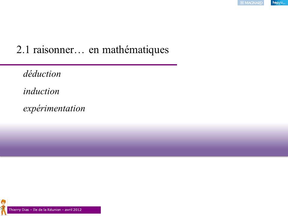 2.1 raisonner… en mathématiques