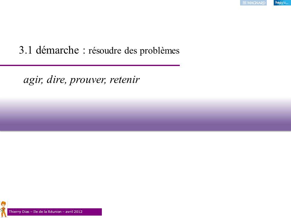 3.1 démarche : résoudre des problèmes