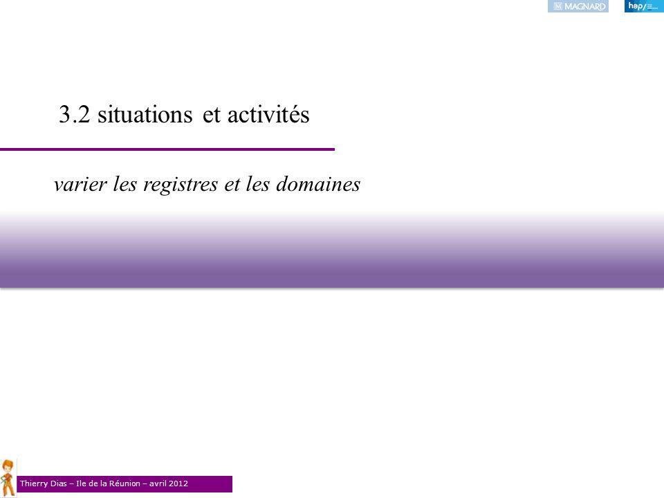 3.2 situations et activités