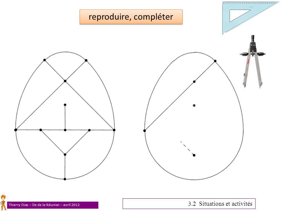 reproduire, compléter 3.2 Situations et activités