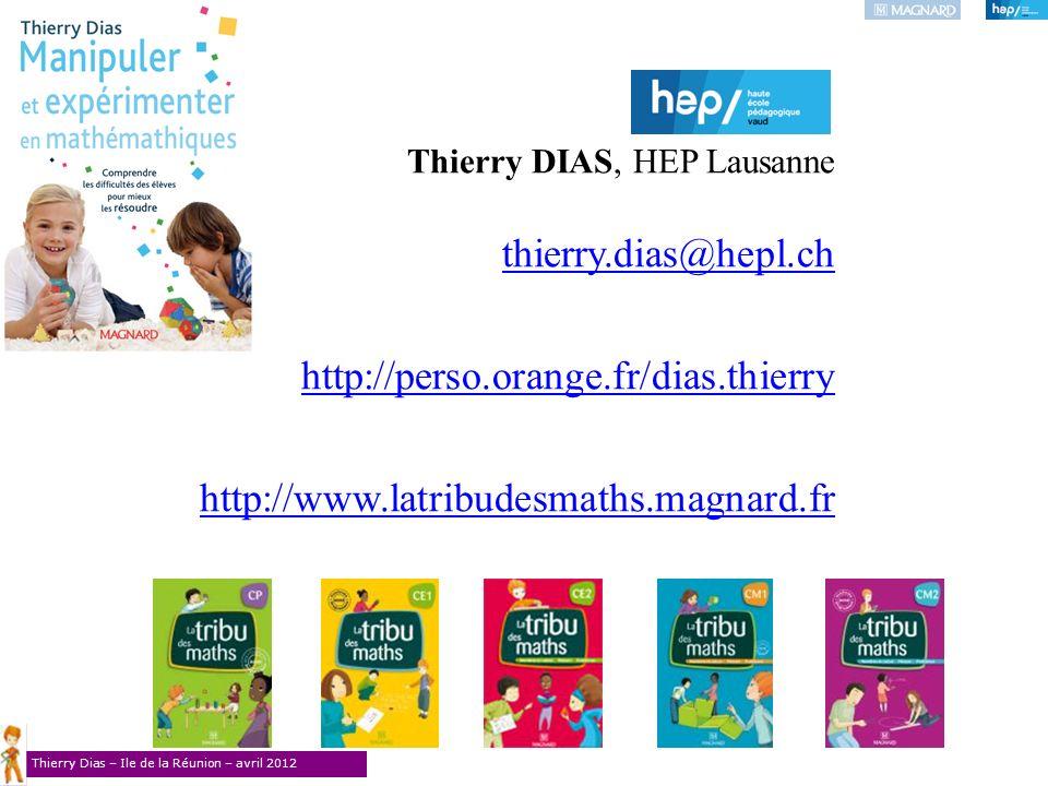 Thierry DIAS, HEP Lausanne thierry.dias@hepl.ch