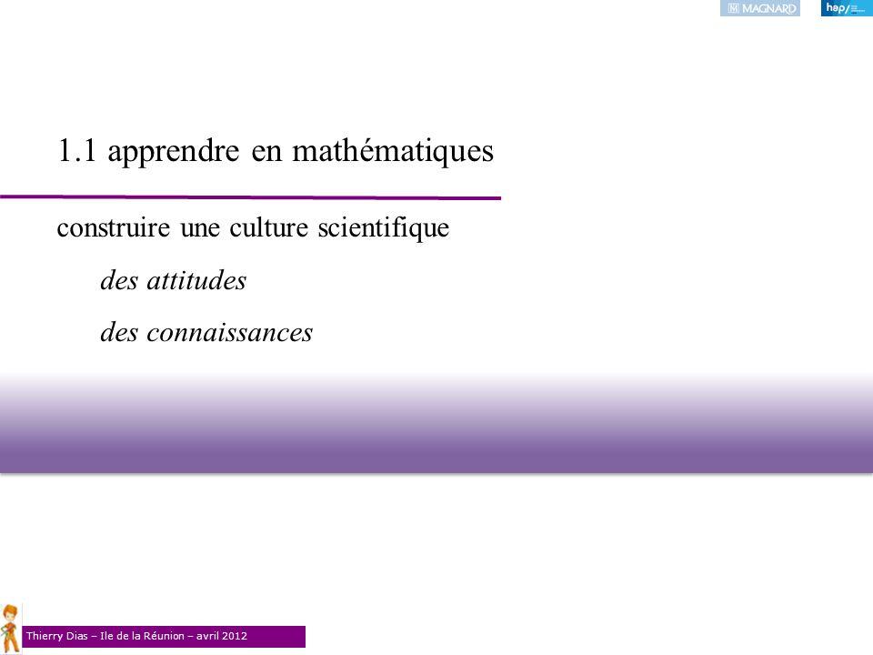 1.1 apprendre en mathématiques