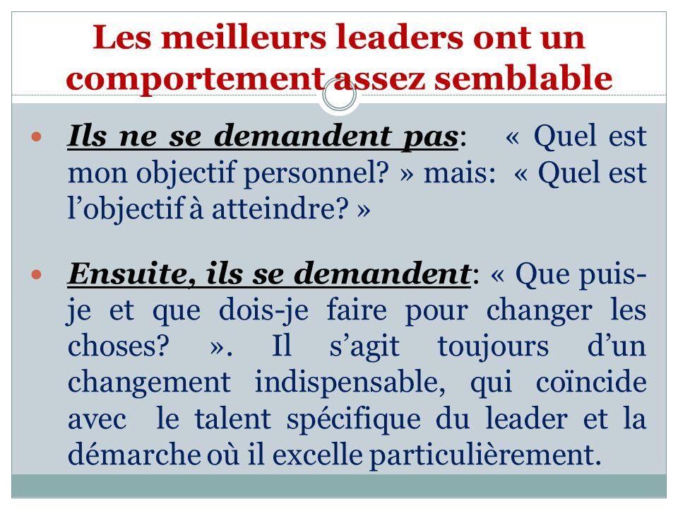 Les meilleurs leaders ont un comportement assez semblable