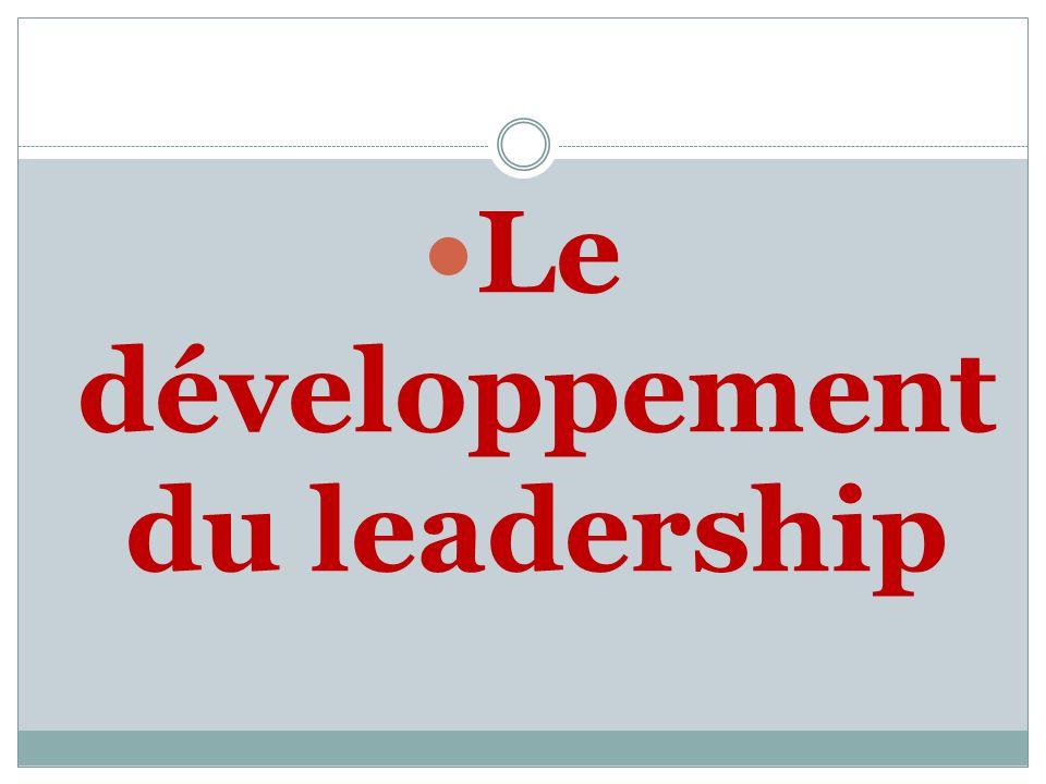 Le développement du leadership