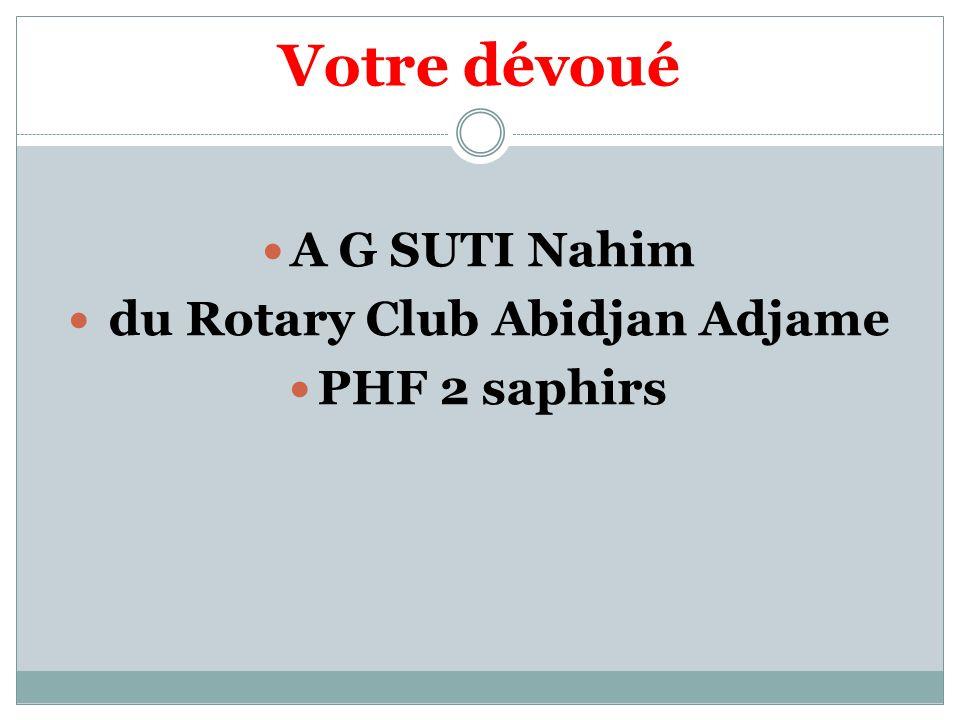 du Rotary Club Abidjan Adjame