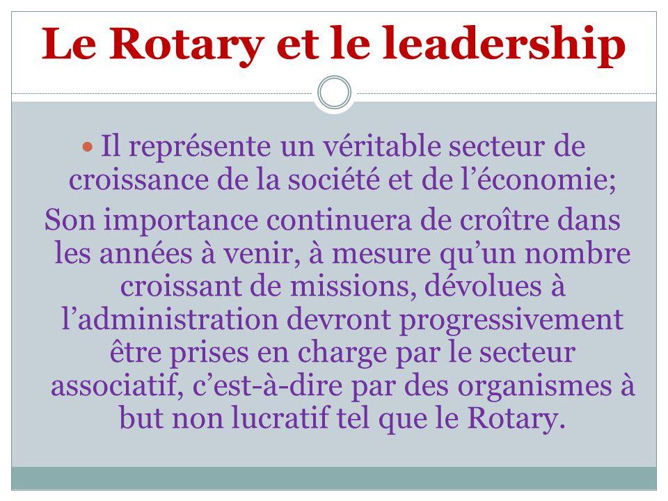 Le Rotary et le leadership