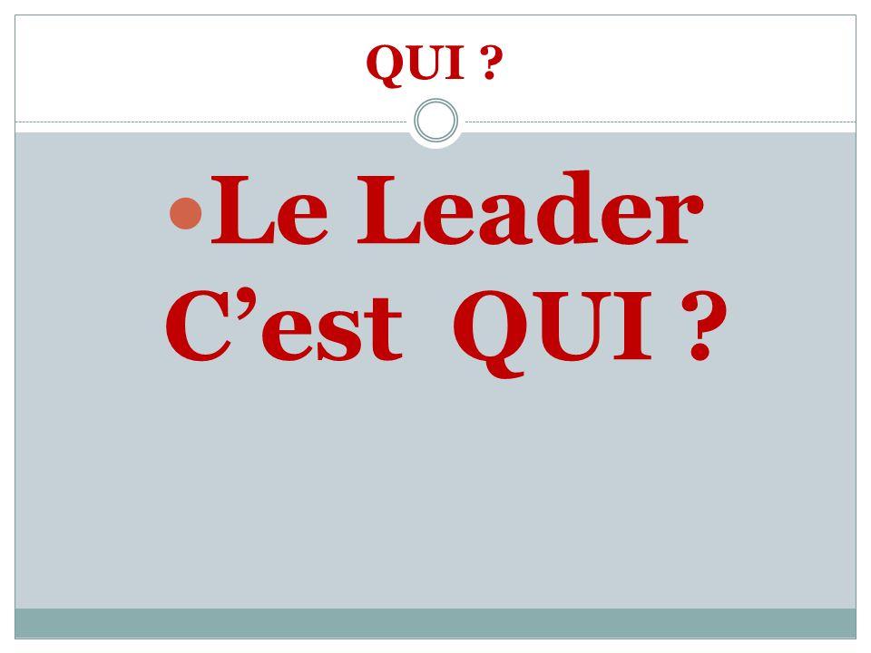 QUI Le Leader C'est QUI