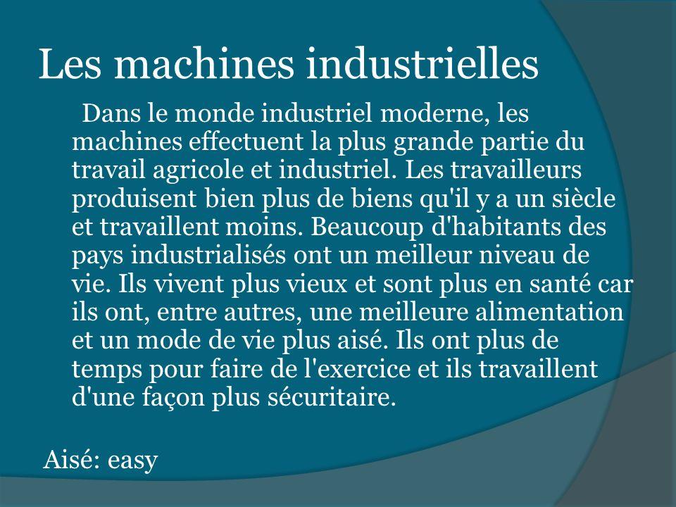 Les machines industrielles