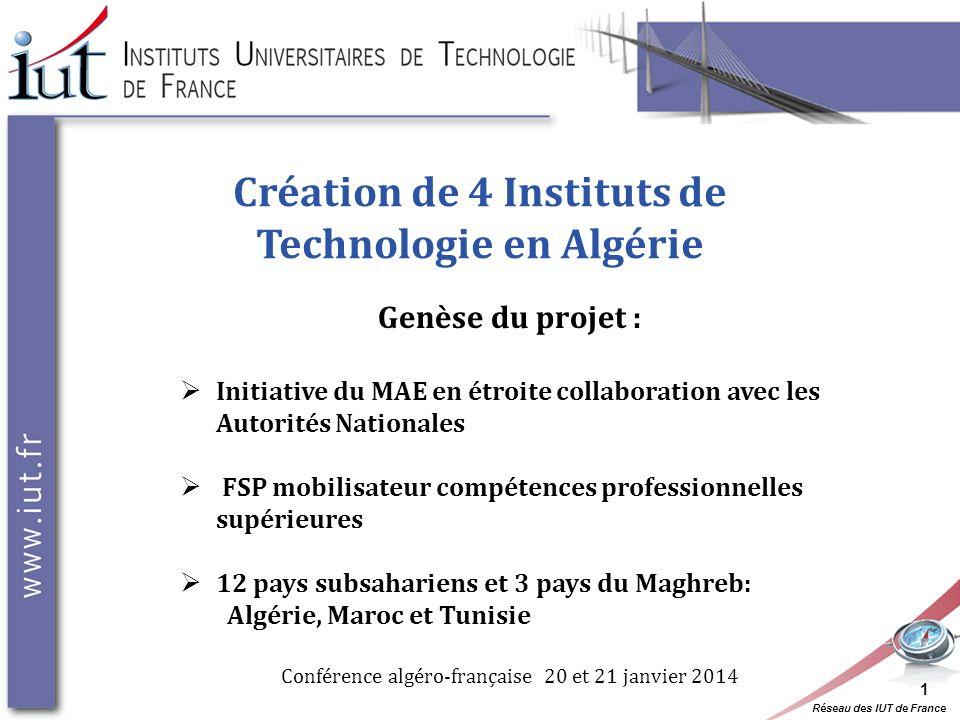 Création de 4 Instituts de Technologie en Algérie