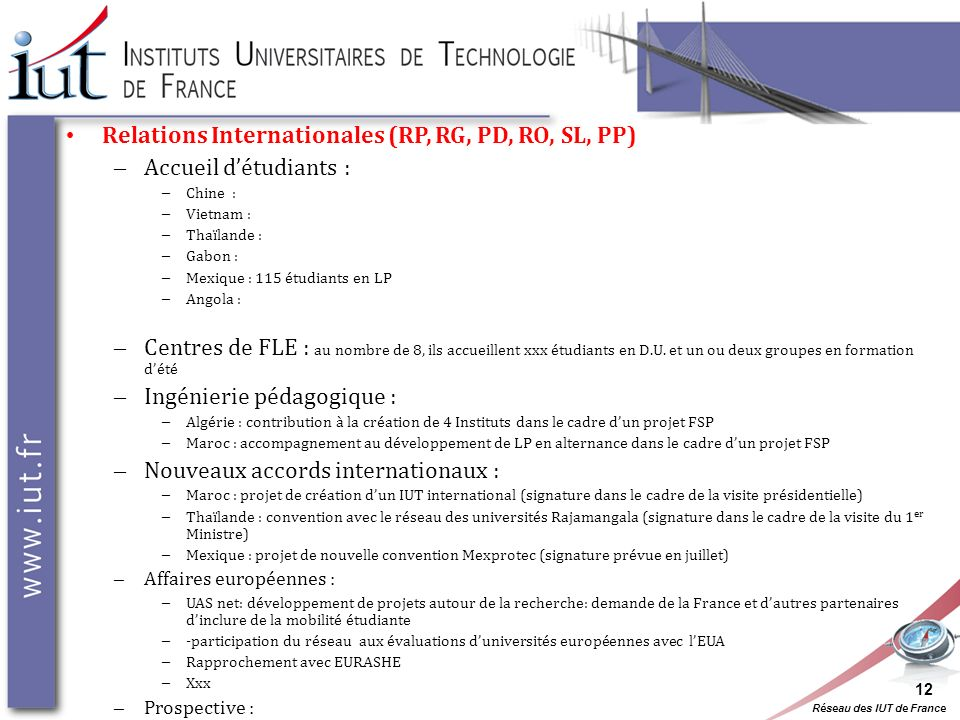 Relations Internationales (RP, RG, PD, RO, SL, PP)