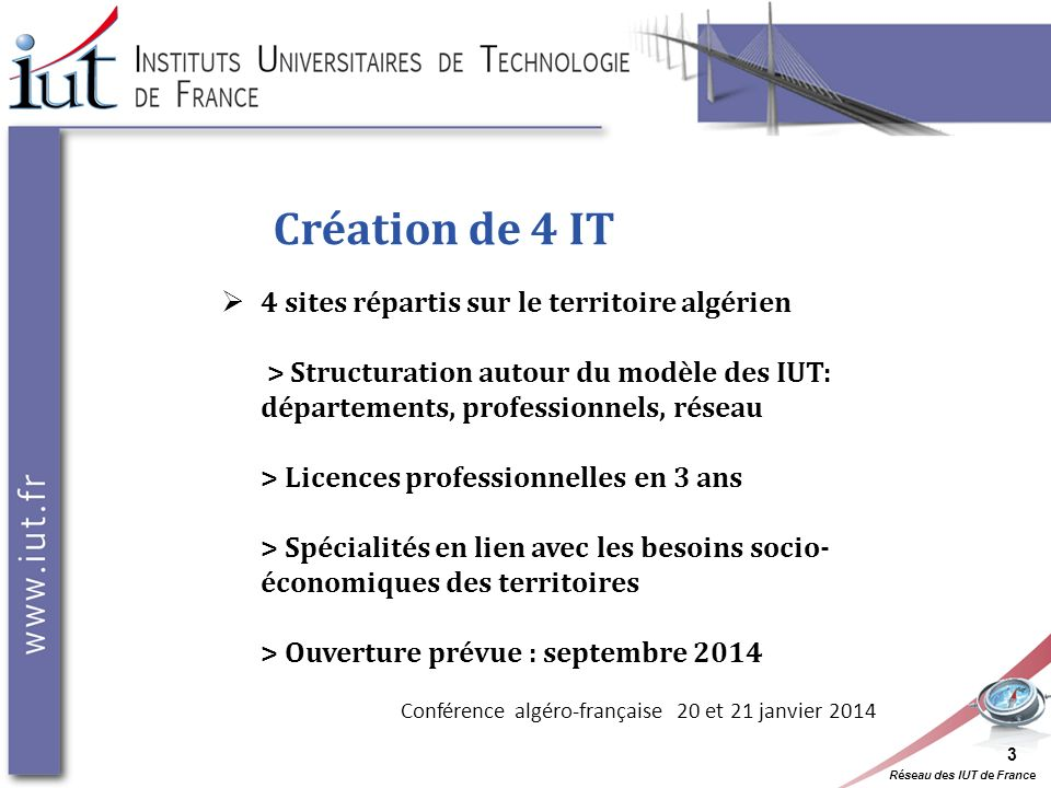 Conférence algéro-française 20 et 21 janvier 2014