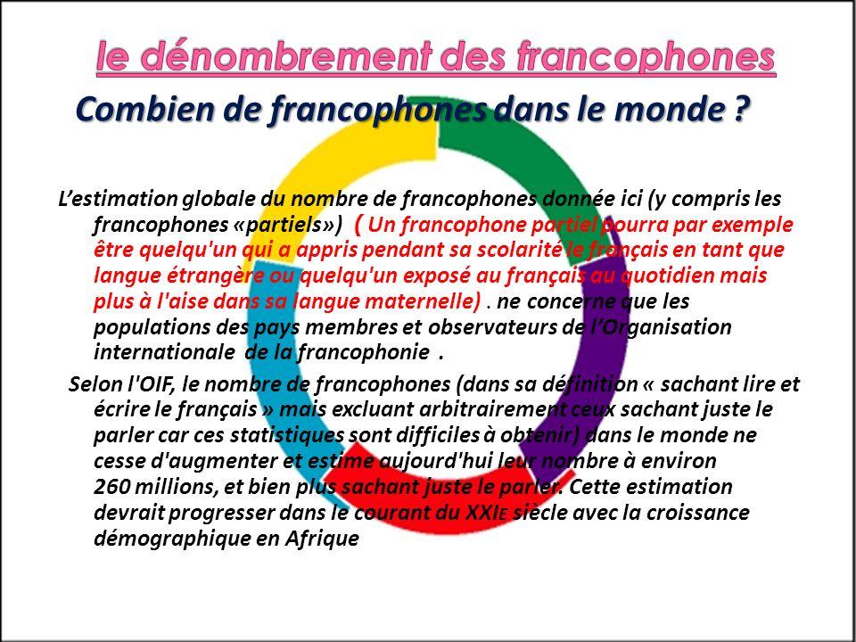 le dénombrement des francophones