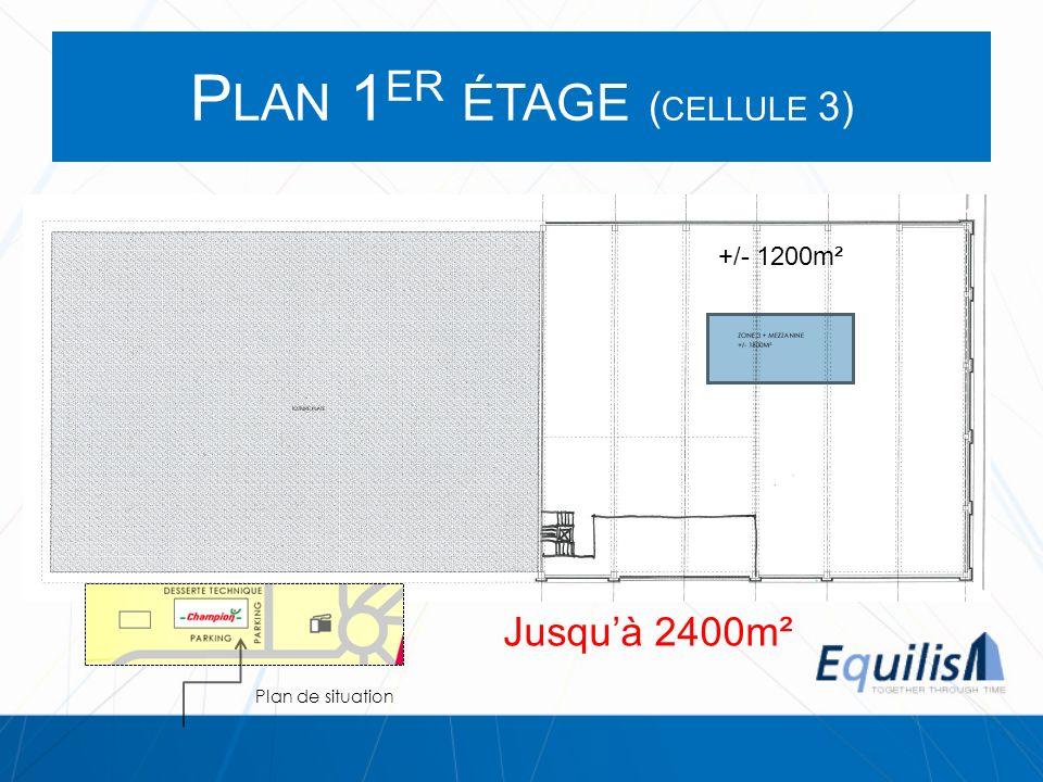 Plan 1er étage (cellule 3)