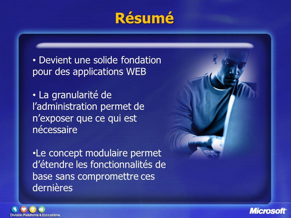 Résumé Devient une solide fondation pour des applications WEB