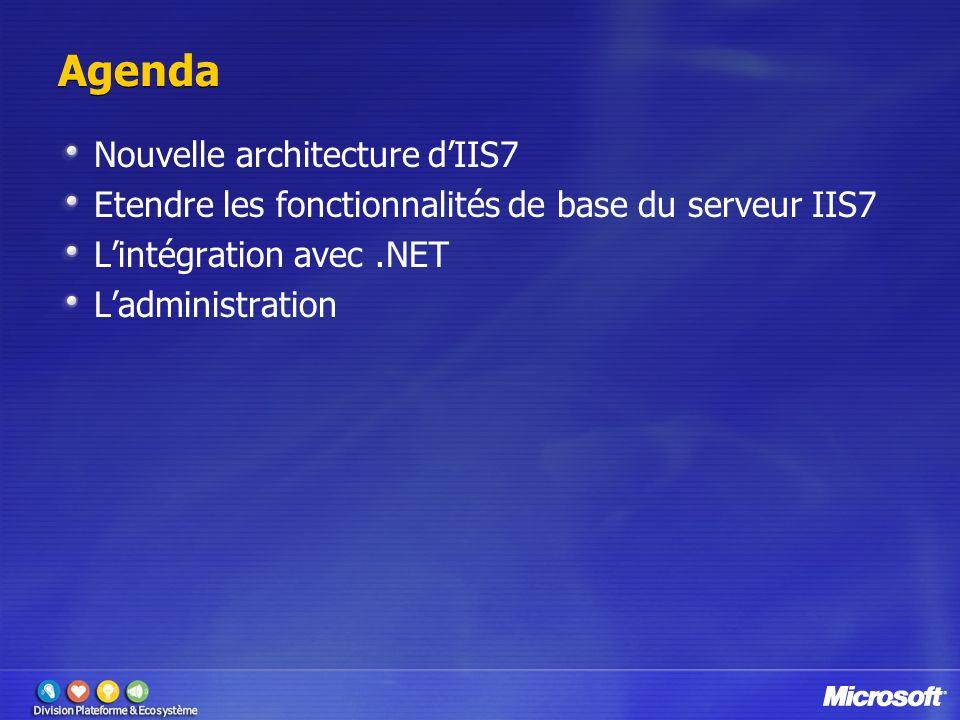 Agenda Nouvelle architecture d'IIS7