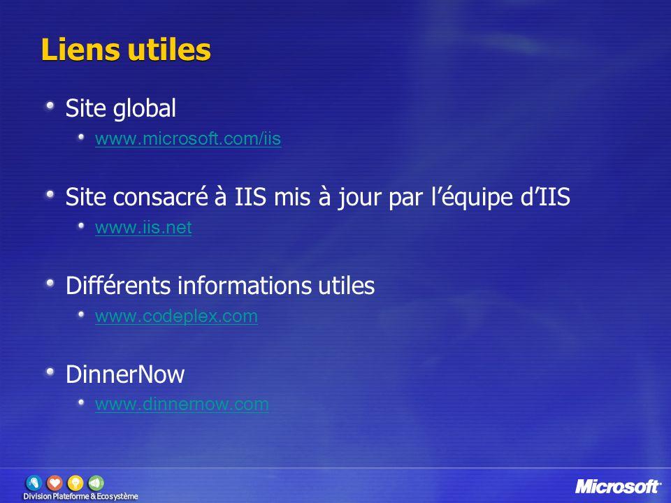 Liens utiles Site global