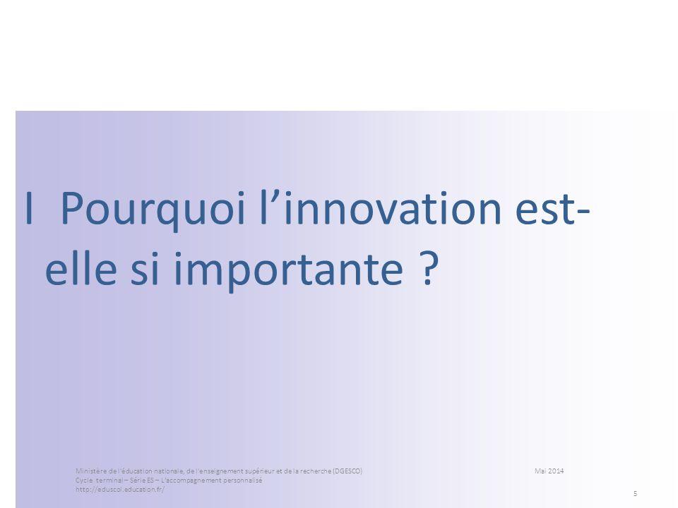 I Pourquoi l'innovation est-elle si importante