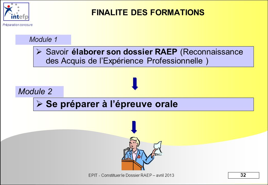 FINALITE DES FORMATIONS
