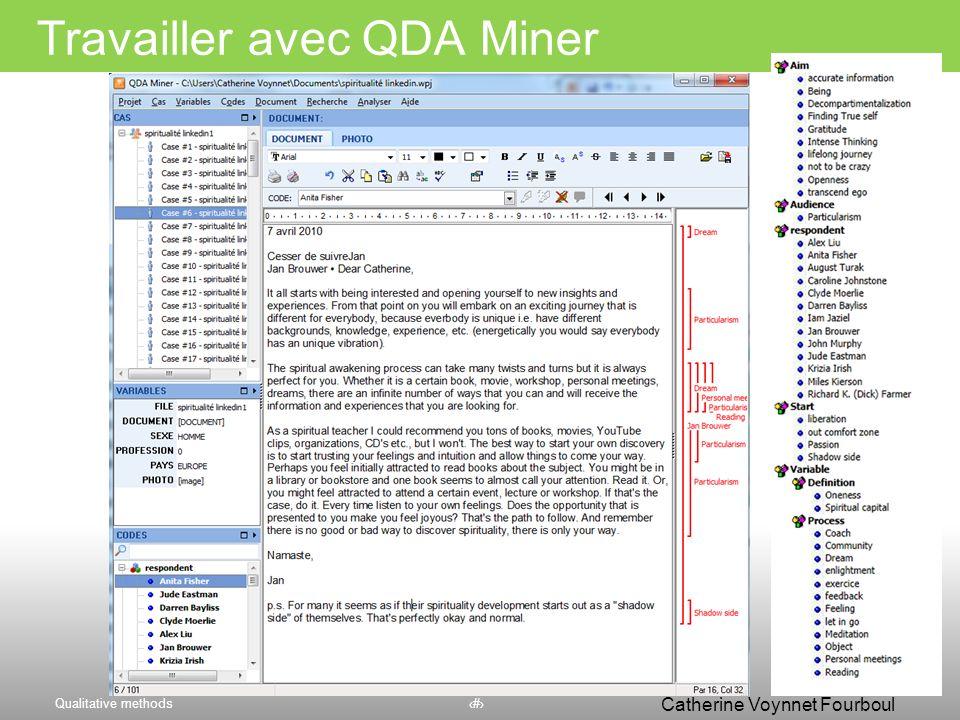 Travailler avec QDA Miner