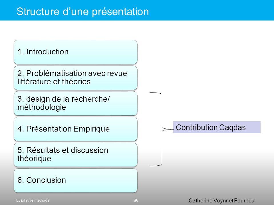 Structure d'une présentation