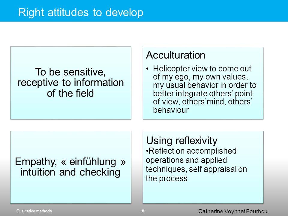 Right attitudes to develop