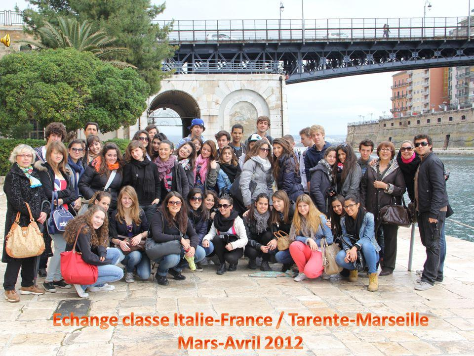 Echange classe Italie-France / Tarente-Marseille Mars-Avril 2012