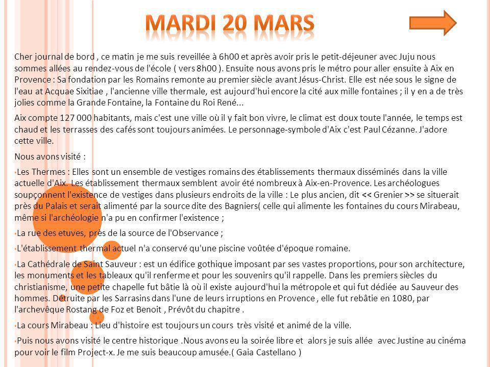 Mardi 20 Mars