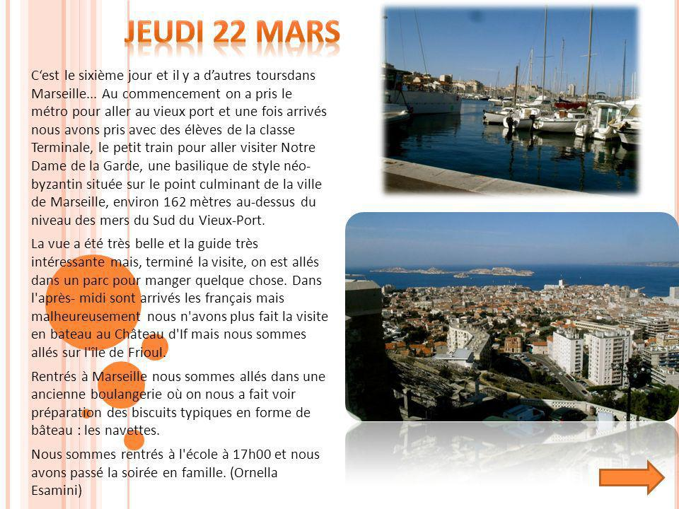 Jeudi 22 Mars