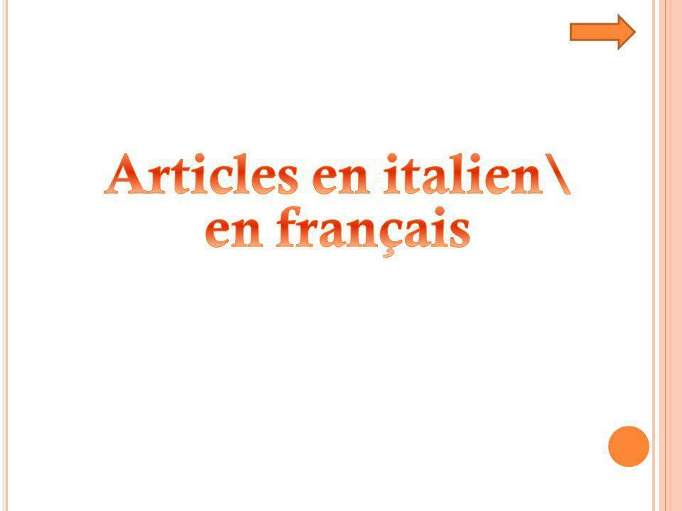 Articles en italien\ en français