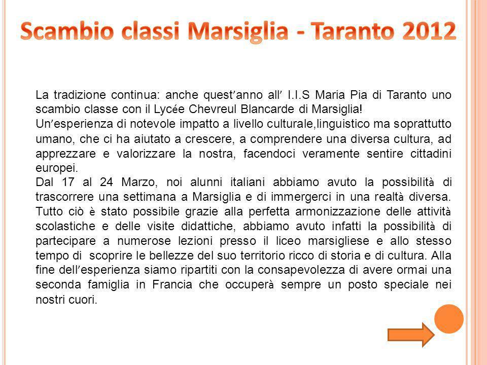 Scambio classi Marsiglia - Taranto 2012