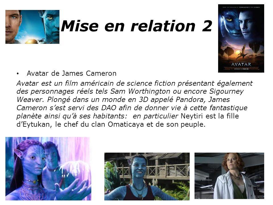 Mise en relation 2 Avatar de James Cameron