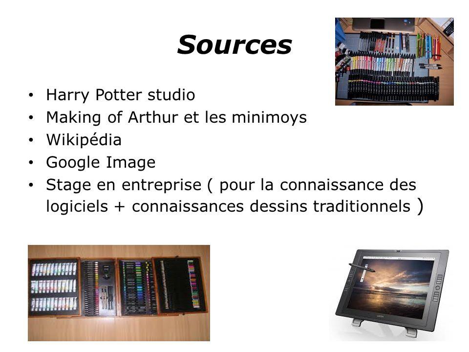 Sources Harry Potter studio Making of Arthur et les minimoys Wikipédia