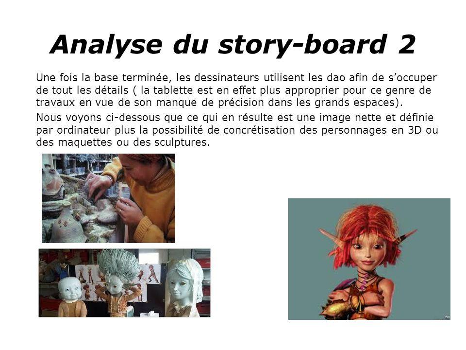 Analyse du story-board 2