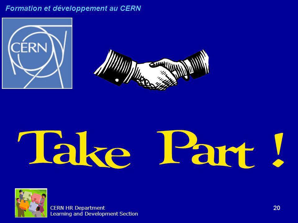 Take Part ! Formation et développement au CERN