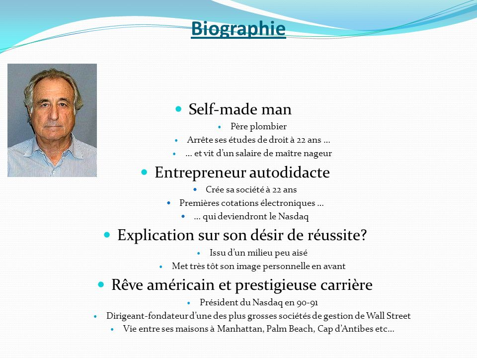 Biographie Self-made man Entrepreneur autodidacte