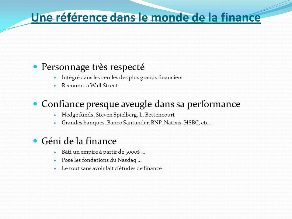 Une référence dans le monde de la finance