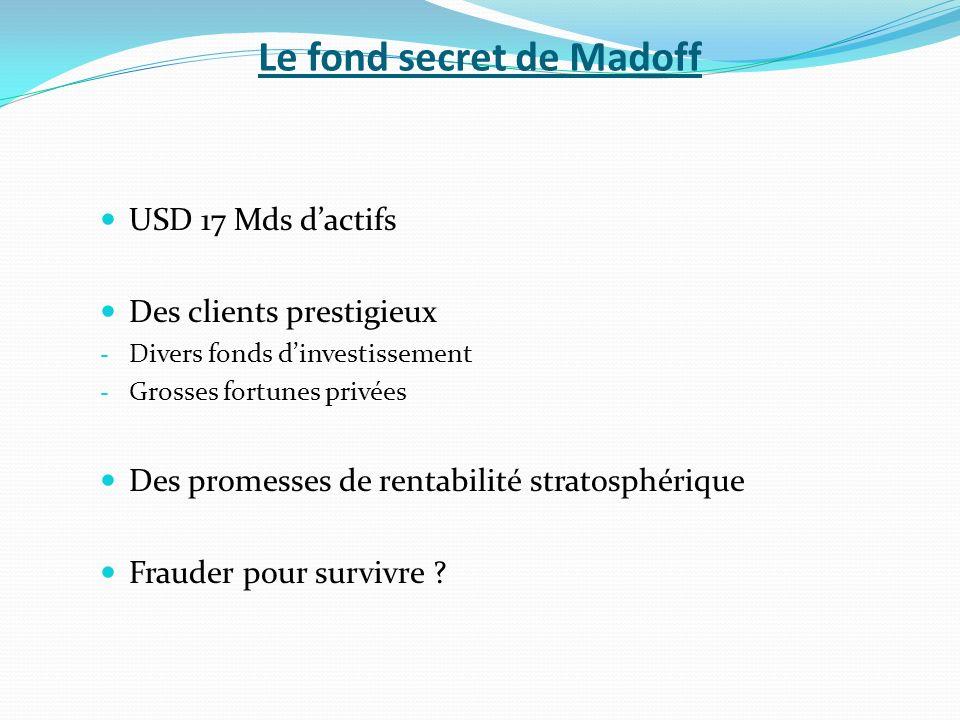 Le fond secret de Madoff