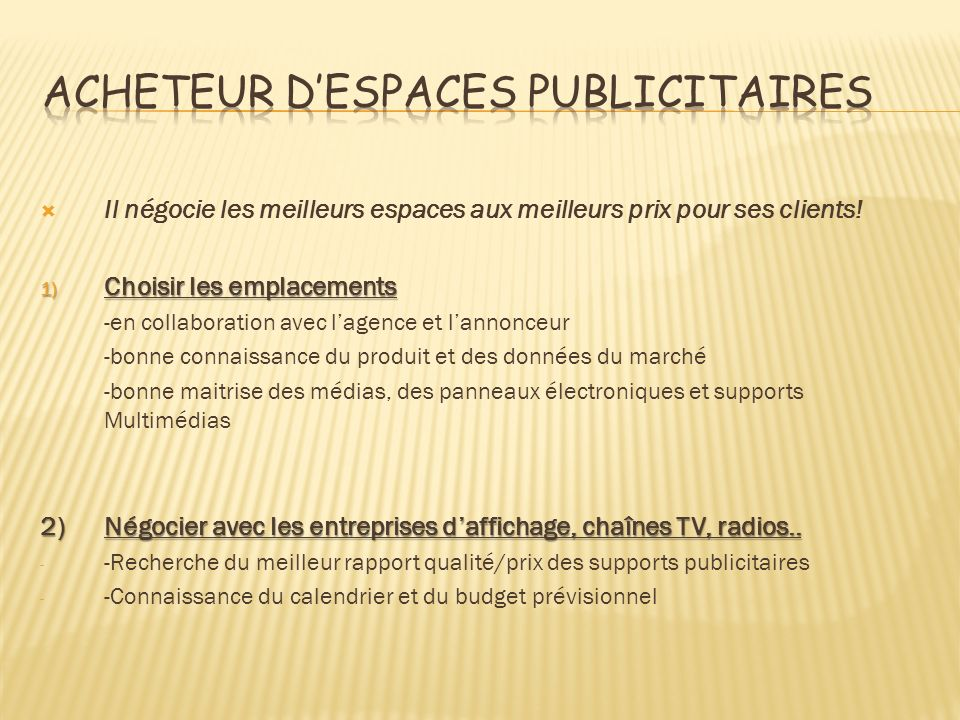 exemple de cv acheteur d u0026 39 espaces publicitaires