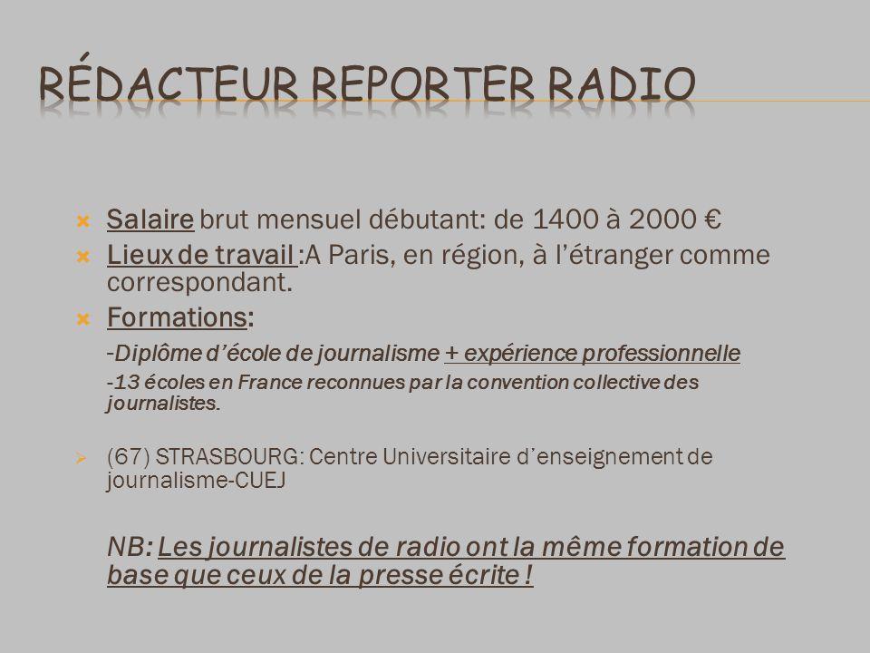 Rédacteur reporter radio