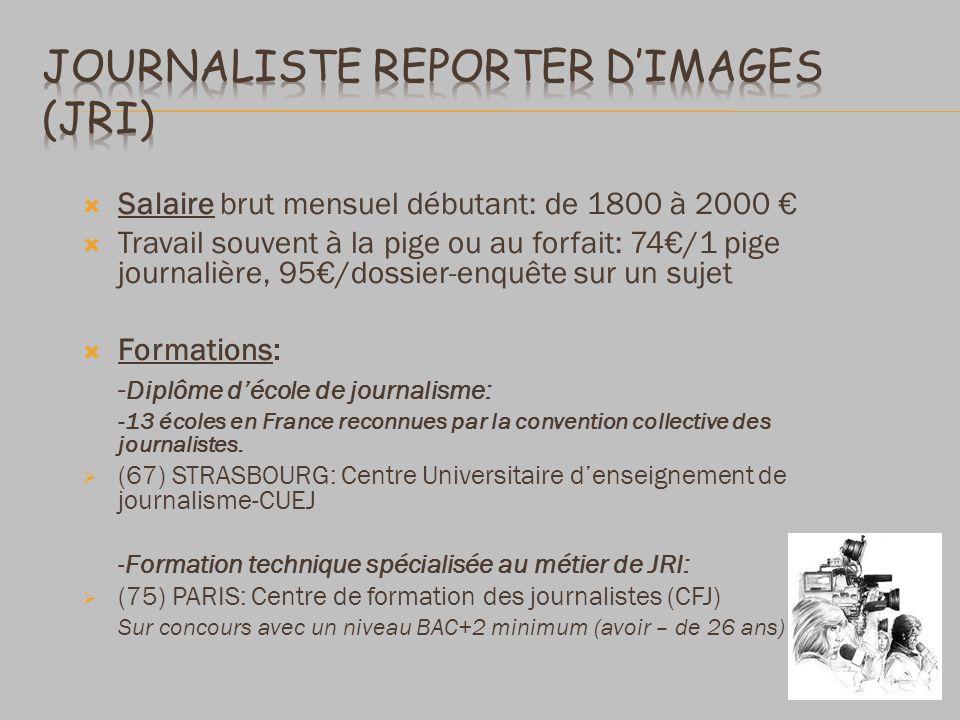 Journaliste reporter d'images (JRI)
