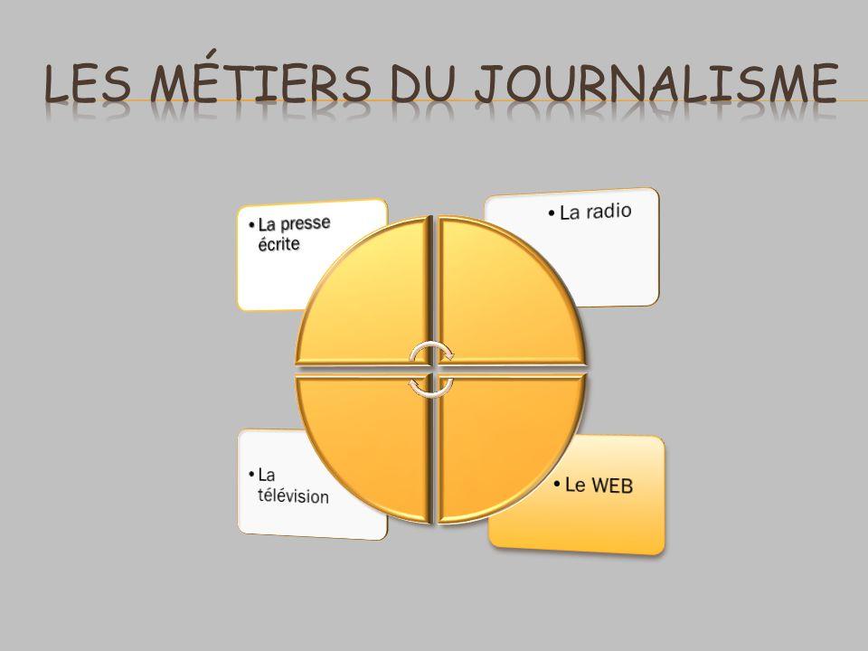 Les métiers du journalisme