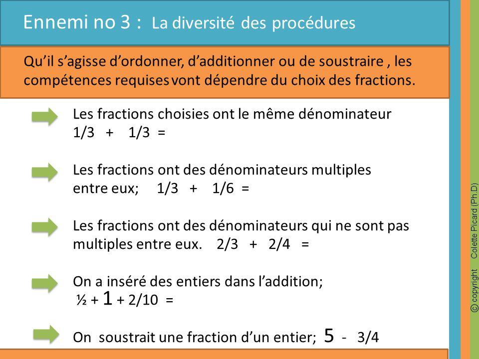 Ennemi no 3 : La diversité des procédures
