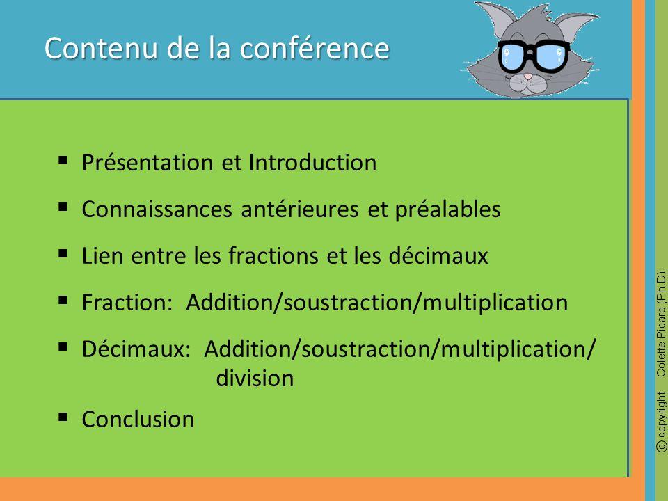 Contenu de la conférence