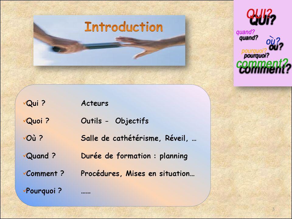 Introduction Qui Acteurs Quoi Outils - Objectifs