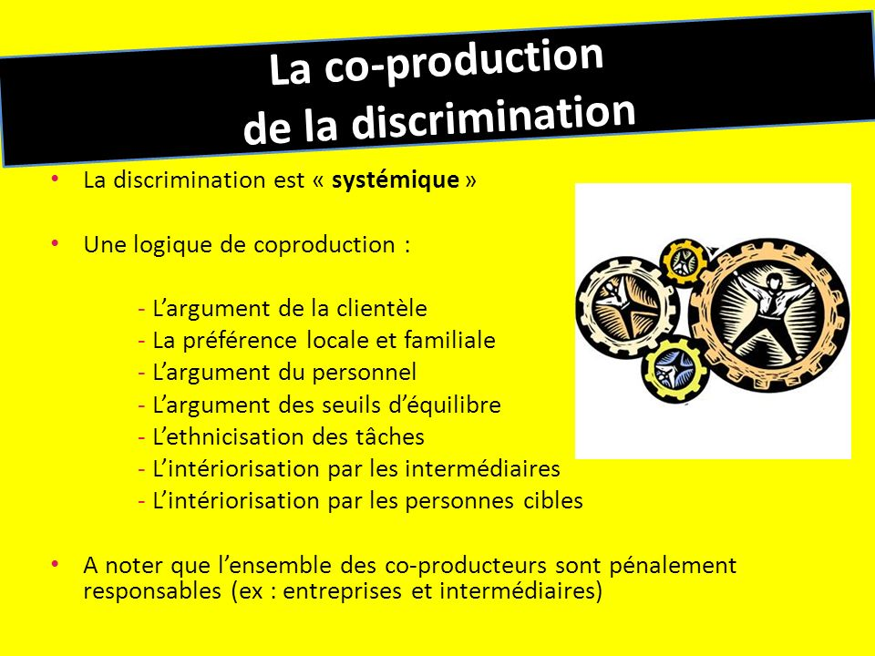 La co-production de la discrimination